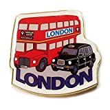 Detailed Routemaster / Route Master / Double Decker Metal, Shaped Magnet London Bus and London Taxi Cab Collectible UK Magnet Souvenir! Souvenir / Speicher / Memoria! Memorable, One-of-a-Kind British UK Collectible Magnet! Here's a Memorable London Souvenir! Aimant / Magnet / Magnete / Imán! by My London Souvenirs