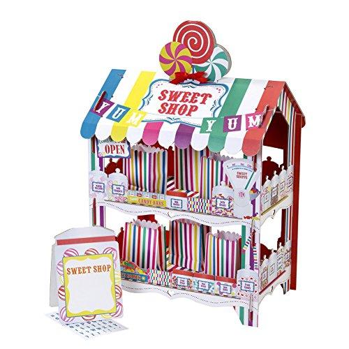 Mesa/tienda de dulces decorativa