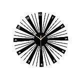 KJDFN Novela Moderno/Contemporáneo Redondo De Madera para Interiores/Exteriores, Batería AA/Reloj De Pared/Reloj