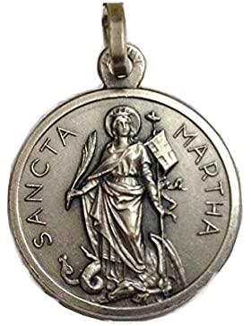 925 STERLING SILBER MEDAILLE VON ST. MARTHA