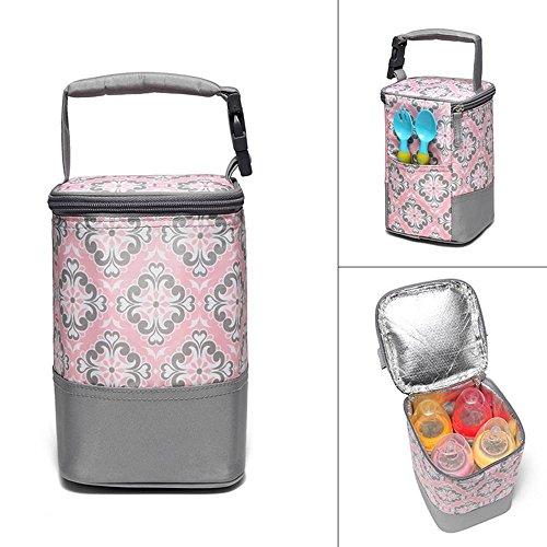 Tragbare Babyflaschentasche Thermotasche mit Wärme- und Kältehaltung Isolierte für Muttermilch Lagerung (Flasche Schaum Isolierte)