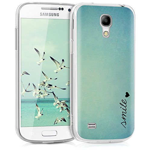 axy S4 Mini Hülle - Handyhülle für Samsung Galaxy S4 Mini - Handy Case in Blau Türkis ()