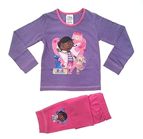 Officiel Disney pour fille Motif Doc McStuffins Hallie Lambie Stuffy Pj's pyjama pyjama Long Taille 1 à 5 ans - Violet - 5 ans