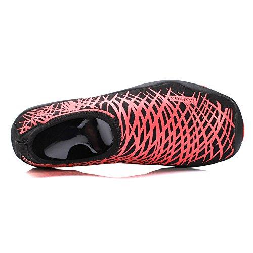 PURVIS , Chaussures aquatiques pour homme Black/Red