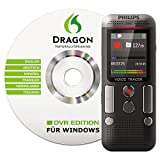 Philips DVT2700 Digitales Diktiergerät inkl. Spracherkennungs-Software f. Windows, kompaktes Aufnahmegerät, mp3 Recorder, Farbdisplay, 4 GB Speicher, USB-Anschluss, Plug & Play, Anthrazit