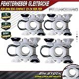 Frankberg 4X Fensterheber Gleitbacke Vorne Links Rechts für 3er E36 316-328 Z3 5er E34 518-540 7er E32 730-750 1985-2009 51321938884