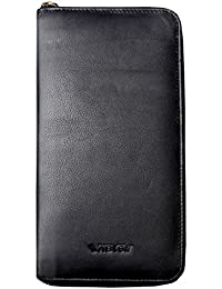 Abys Genuine Leather Black Unisex Coin Purse||Cheque Book Holder||Passport Wallet||Money Clipper||Passport Holder...