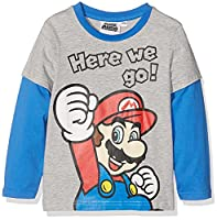 Super Mario Bros Boys Long Sleeve T-Shirt - grey - 8 yrs
