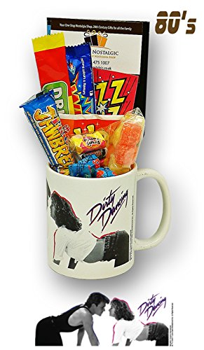 Dirty Dancing 80's Movie Mug with a Selection of Retro Sweets