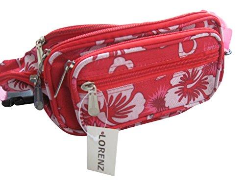 Lorenz Cinturón de dinero rosa Rosa Floral mediano