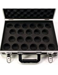 Strong FLIGHT BOX STYLE Aluminium 22 Snooker Ball LOCKABLE Carrying Case