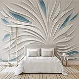 DACHENZI Tapete 3D des Abstrakten Wandbildes 3D Abstrakte Blumenblätter Glasstoff-Mosaik-Wandwohnzimmer-Sofa-Fernsehhintergrund 8D
