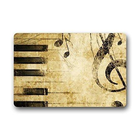 Felpudo Nota música Vintage Piano Interior/Exterior/tapete