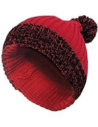 Sock Snob Uomo Invernale Cappello in Maglia con Pompom in Rosso e Blu 1a5714a579be