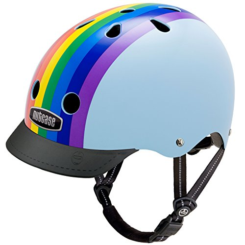 Nutcase Gemusterter Street Bike  für Erwachsene, Mehrfarbig (Rainbow Sky), S (52-56 cm)