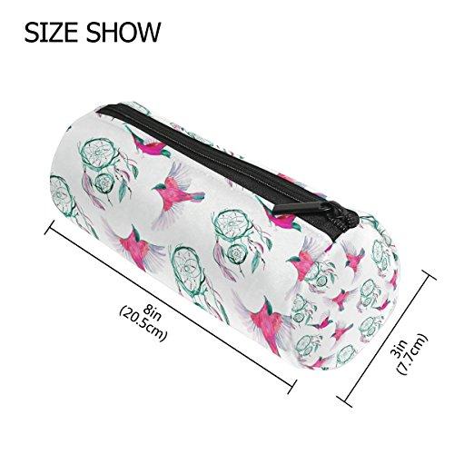COOSUN - Estuche de acuarela con forma de cilindro para atrapasueños, diseño étnico, bolsa de papelería, bolsa de maquillaje