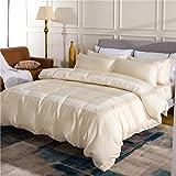 Fodere per trapunte lenzuola Fodera in quattro pezzi lussuosa seta romantica confortevole ( Color : A , Size : 220*240CM )