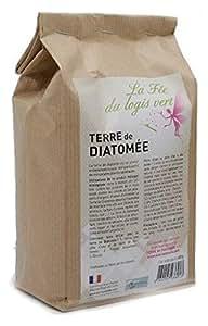 Eco-conseils Terre de Diatomée Alimentaire (pour Animaux) 1Kg - Protecteur et Insecticide Alimentaire Biologique - Emballage 100% écologique … (1kg)