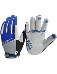 Yihya Respirable Transpirable Ciclismo Bicicleta Bici MTB Bike Motos Prueba de Golpes Gel Silicona Completa del Dedo Guantes Full Finger Antideslizante Gloves Protección de Mano sin dedos para los Deportes al Aire Libre --- azul - M