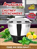 Anjalimix Delux Chutney Attachment Jar (650 ML) for Dry Grinding, Spices, Dals, Roasted Coffee Beans