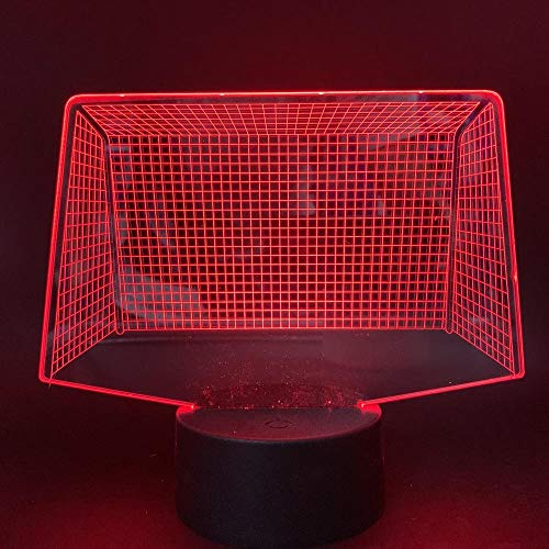 Xiujie 3D Nachtlicht Fußball Tor 7 Farbe Illusion Lampe Kinder Usb Berühren Sie 3D Tischlampe Halloween Weihnachten Kinder Geschenk Schlafzimmer Nachttischlampe