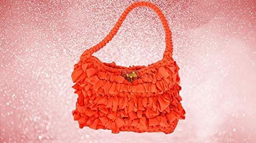 Elegante Artisan-Handtasche, gefüttert mit Mikrofasergewebe -