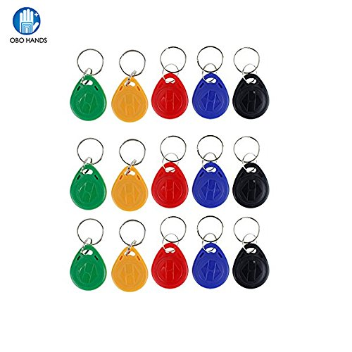OBO HANDS 125khz Tags EM4100 Rfid Card Token Key Tag Access Control Smart Card ID Keyfobs Package of 100pcs (YELLOW) -