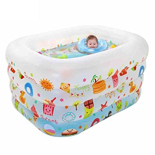 Badewanne Swimmingpool Großes buntes Babybecken, das Karikaturschwimmenbecken liest, enthält Luftpumpe Äußere Durchmessergröße: 140 * 110 * 70cm (55.1 * 43.3 * 27.5in) Aufblasbare Badewanne ( Farbe : B )