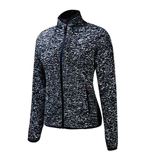 BEROY Damen Winter Warm Fleecejacke Sweatjacke mit Kapuze Fleece Outdoors Jacke Einfarbig für Schule, Wandern und Freizeit (Grau, XL)
