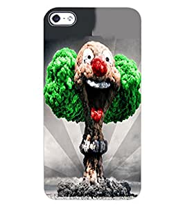 ColourCraft Joker Design Back Case Cover for APPLE IPHONE 4S