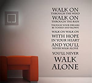 TheStickerStop - You'll Never Walk Alone Liverpool FC - Wall Sticker - Vinyl Wall Art (Medium - 45 x 90cm) from TheStickerStop