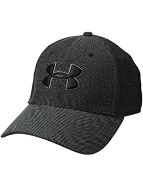 Under Armour Men's Heathered Blitzing 3.0 Gorra, Hombre, Negro (001), M