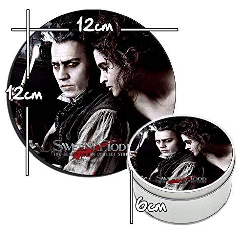 MasTazas Sweeney Todd Johnny Depp Helena Bonham Carter Runde Metalldose aus Zinn Round Metal Tin Box