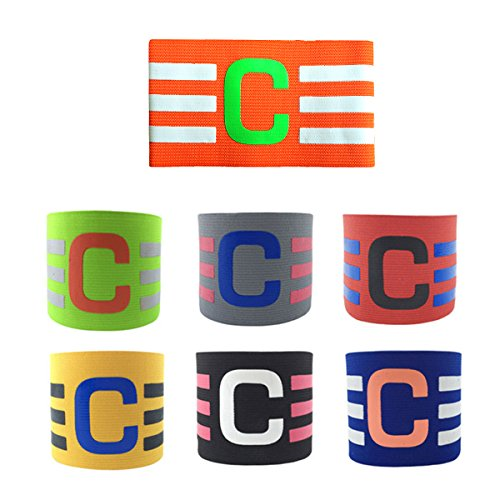 ADESUGATA Soccer Captains Armband Football Captain Armband Junior Elasticated Futbol Captain bands for Adult Velcro For Adjustable Size Suitable For Multiple Ball Games Sports