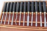 Schnitzwerkzeug 12-tlg Holzkiste Schnitzsatz Schnitzmesser Messer zum Schnitzen