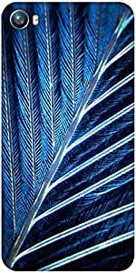 Snoogg feather Designer Protective Back Case Cover For Micromax Canvas Fire 4 A107