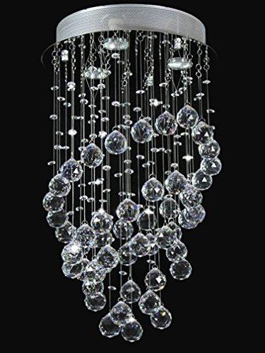 Dst Moderne Ringförmigkeit K9 Klar Kristall Deckenleuchte 3 Beleuchtung Kronleuchter für Esszimmer Wohnzimmer Schlafzimmer Arbeitszimmer D35cm H60cm (Kristall-glas-top-esstisch)