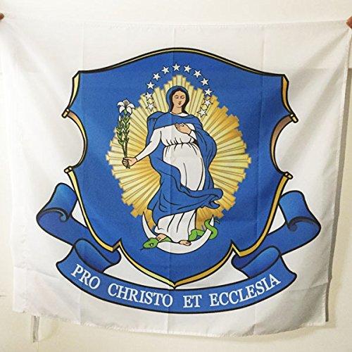 BANDIERA CONGRÉGATION DES PÈRES MARIANISTES DE L'IMMACULÉE CONCEPTION DE LA TRÈS SAINTE VIERGE MARIE 90x90cm - BANDIERA DEL MIC 90 x 90 cm foro per asta - AZ FLAG