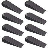 nuoshen 8 Stks Anti-slip Rubber Deur Wigstopper, Deur Stop Wiggen Zwarte Rubber Deur Stoppers voor Huis en Kantoor