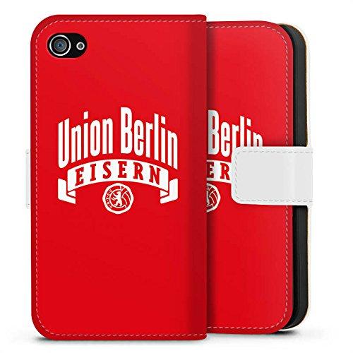 Apple iPhone 7 Tasche Hülle Flip Case 1. FC Union Berlin Fanartikel Fußball Sideflip Tasche weiß