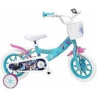 """Denver Bike 17221 DISNEY FROZEN - Bicicletta per ragazze di 3-5 anni, Blu, Ruote 30,5 cm (12"""")"""