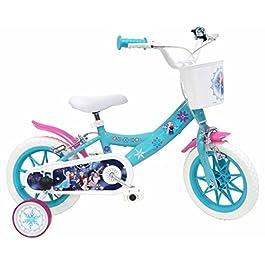 Bicicletta DISNEY FROZEN per bambini di 3-5 anni, Blu, Ruote 30,5 cm (12″)