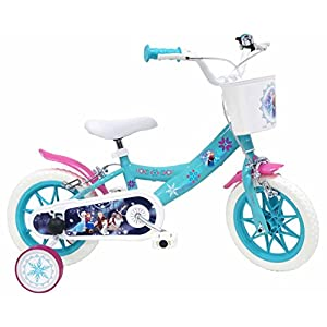 "51dOqosQcjL. SS300 Bicicletta DISNEY FROZEN per bambini di 3-5 anni, Blu, Ruote 30,5 cm (12"")"