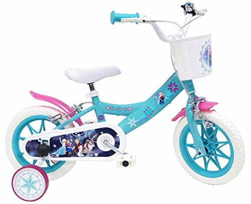 DENVER  Frozen Bike 17221 - Bicicletta per Ragazze, Blu, 30,5 cm (12')