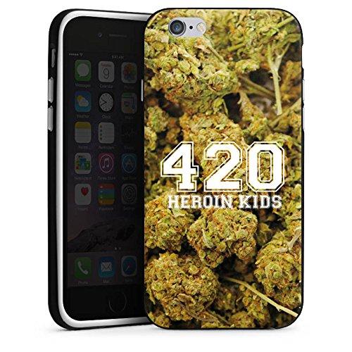 Apple iPhone X Silikon Hülle Case Schutzhülle 420 Weed College Silikon Case schwarz / weiß