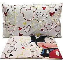Disney JUEGO DE SÁBANAS 100% ALGODÓN cama de 90 cm ROJO modelo MICKEY
