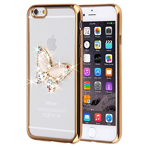 YAN Für iPhone 6 Plus / 6s Plus, Diamond verkrustete Schmetterling Muster Soft TPU Fall ( SKU : IP6P0087A ) IP6P0087C