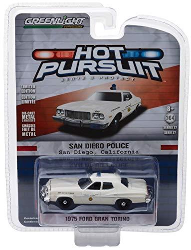 1975 Ford Gran Torino Police San Diego, California - Greenligh 1:64 (Ford Police 1 64)
