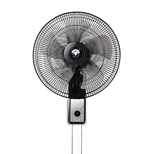 FAN LYFS Sockelventilatoren Wandmontageventilator kann gedreht Werden 90-Grad-Oszillationsgeschwindigkeit 3   Einstellung Stummschaltung 16-Zoll-Schwarz leise Cool mitbringen