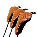 TOURBON - Funda protectora para palos de golf (3 unidades), color naranja